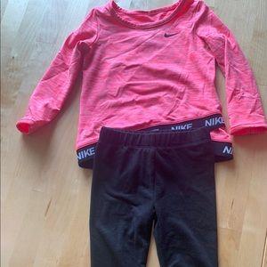 Nike Black Toddler Pant & Shirt Set 24 mos